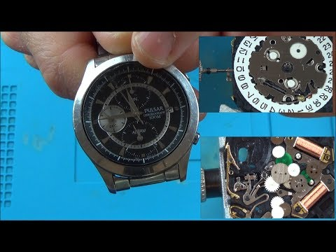 Trying to FIX a Faulty Pulsar Chronograph Quartz Watch