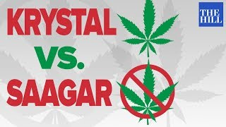 Krystal debates Saagar and Anti-pot advocate