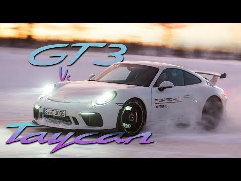 Porsche 911 GT3 vs Porsche Taycan: Drifting On Ice | Carfection