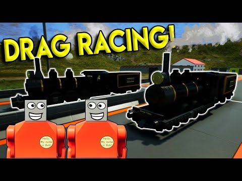 LEGO TRAIN DRAG RACING?!?! – Brick Rigs Multiplayer Challenge & Roleplay Gameplay – Lego Train Race