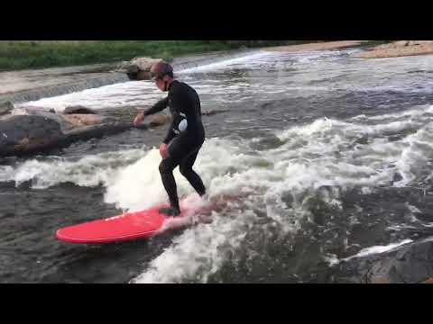 Longboard River Surfing