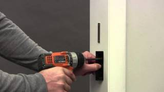 Folding Door Lock Installation (Single door Without a Closure Channel)