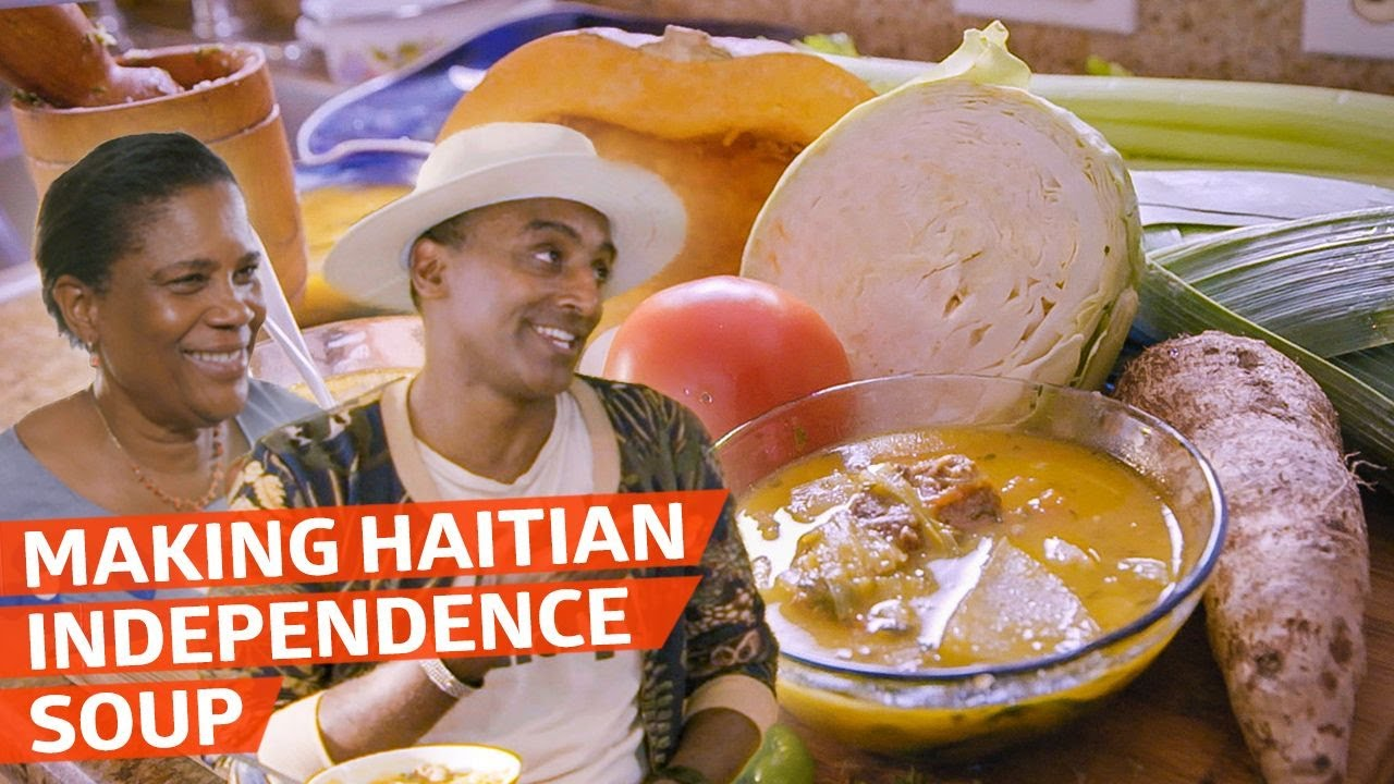 Chef Marcus Samuelsson Learns to Make Haitian Independence Soup — No Passport Required thumbnail