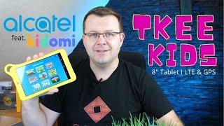 Alcatel TKEE MID I Kinder Tablet mit KIDOMI Plattform für Lernspiele, Bücher & Videos I deutsch