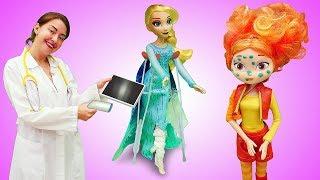 Видео для малышей Веселая школа. Кукла Доктор Плюшева приглашает игрушки на осмотр!