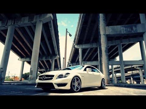 """The Vossen Matte White Mercedes Benz CLS63 AMG on  20"""" VVS-CV5 Concave Wheels / Rims"""