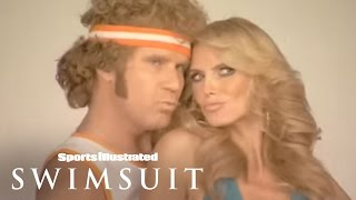 Will Ferrell As Jackie Moon & Heidi Klum Photoshoot 2008 | Sports Illustrated Swimsuit