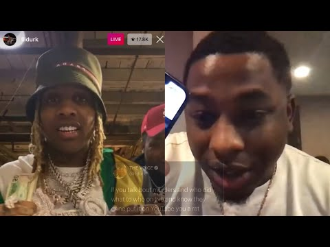 Lil Durk 3xposes Rappers That Goes On IG Live & 🐀 On Themselves?