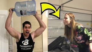 WATER BOTTLE FLIP CHALLENGE GONE VERY WRONG!!!
