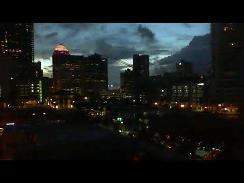 skyline, weather, buildings, city