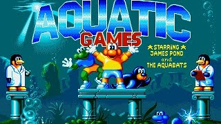 Mega Drive: The Aquatic Games starring James Pond and the Aquabats (HD / 60fps)