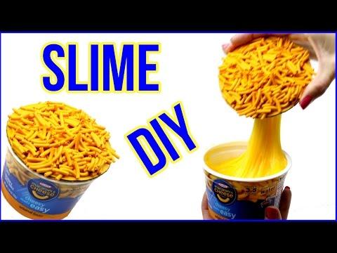 DIY SLIME! Mac N Cheese Liquid Slime DIY - Satisfying Slime Play!
