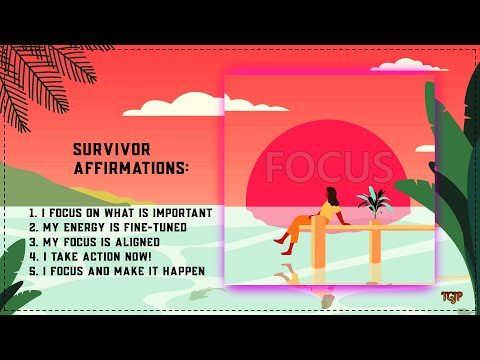 Survivor Affirmations: I Focus and Make it Happen (video)