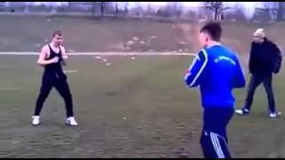 драка футболист против гопника