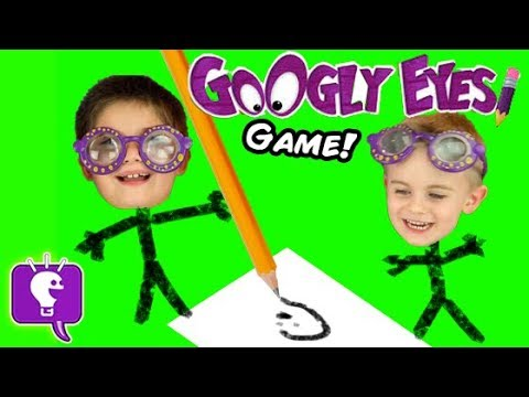 Drawing Challenge Contest with Googly Eyes Game by HobbyKidsTV