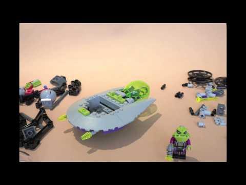 Vidéo LEGO Alien Conquest 7051 : L'envahisseur triploïde