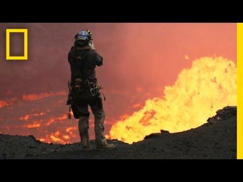 Volkan Kraterinin Drone Yardımıyla Yakından Çekilen Görüntüleri