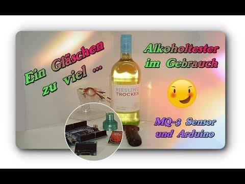 Ein Gläschen zu viel - Versuch mit dem MQ-3 Sensor & Arduino sowie ein Alkoholtester von Banggood