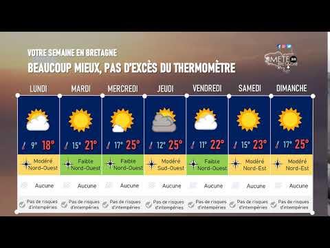 Illustration de l'actualité Votre semaine en Bretagne : beaucoup mieux, pas d'excès du thermomètre