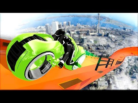 Download Mega Ramp - Tron Bike Extreme Stunts - Gameplay Android game HD Mp4 3GP Video and MP3
