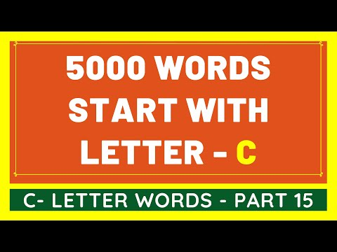 5000 Words That Start With C #15 | List of 5000 Words Beginning With C Letter [VIDEO]