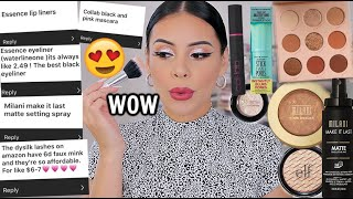 I TRIED YOUR DRUGSTORE MAKEUP FAVORITES! WOW These are SO good 😍