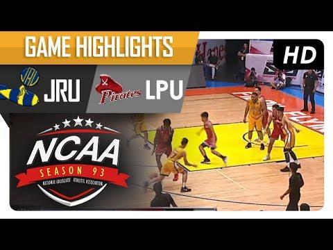 JRU vs. LPU | NCAA 93 | MB Game Highlights | July 11, 2017