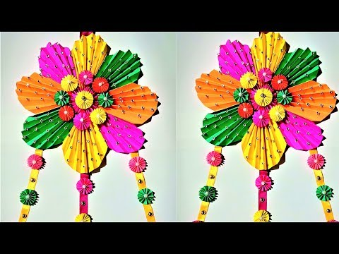 Easy Paper Flower Wall Hanging Diy Wall Flower Decoration Wall