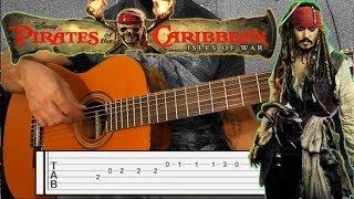 Gitar Dersleri KARAYİP Korsanları TAB - Pirates Of The Caribbean Guitar Lesson  - How To Play