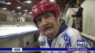 """World's Oldest Hockey Player"" Mark Sertich Celebrates 98th Birthday"
