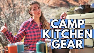 WHAT KITCHEN GEAR TO PACK FOR CAMPING: My Car Camping Kitchen Essentials