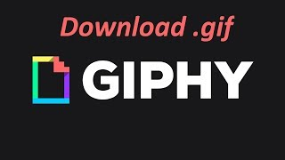 How to save a gif from giphy