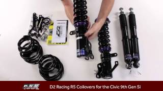 How to adjust  D2 Racing RS Coilovers for the 9th Gen Si and  Unboxing Review