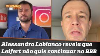 Leifert fica pistola com jornalista por revelação sobre motivo de saída da Globo