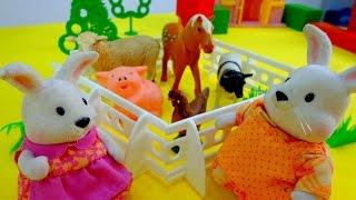 Развивающие мультики: Побег из курятника! Зайчата - Животные на ферме!