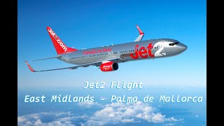 Jet2 flight - East Midlands Airport to Palma de Mallorca