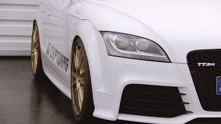 preview picture of video 'Audi TT RS Plus OK Chiptuning 1/4 Meile Aldenhoven 31.08.2014'