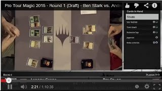 Pro Tour Magic 2015 - Round 1 (Draft) - Ben Stark vs. Andrew Cuneo