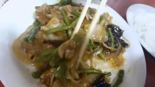 尚ちゃんラーメンのニンニクの芽定食&半ラーメンセット食べましたので