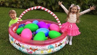 Diana and Giant toy Eggs with Surprise