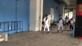 侍JAPAN壮行試合高校vs大学大学代表球場入り