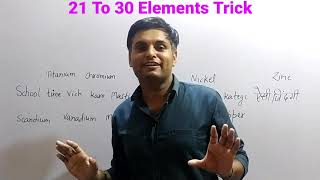21 to 30 elements learning trick || How to learn elements in order || Physics Cafe