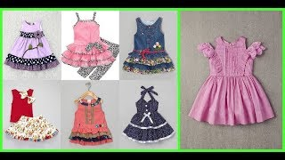 Casual Baby Girl Frock Design Ideas=Babies Cotton Dress Style 2019-20