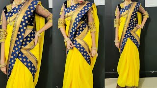 Mermaid Style Saree Draping / Fish Cut Style Saree / how to wear Slimfit Saree for short height girl