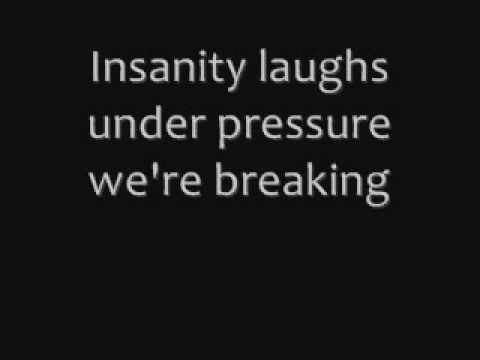 Queen & David Bowie, Under pressure - Lyrics