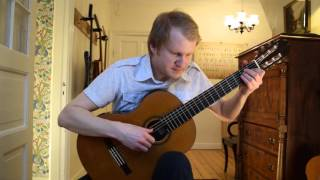 J.S. Bach - Prelude in D-minor BWV 999 (Acoustic Classical Guitar Cover by Jonas Lefvert)