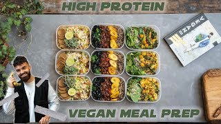 VEGAN HIGH PROTEIN MEAL PREP