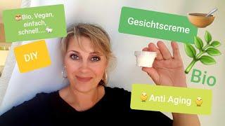 Gesichtscreme Anti Aging DIY Bio, Silikonfrei, Vegan