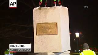 UNC removes Confederate pedestal from campus