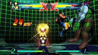 ULTIMATE MARVEL VS. CAPCOM 3 training with wolverine  vs. Hulk - Video Youtube